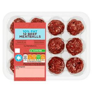 Sainsbury's Beef Meatballs, 10% Fat 350g