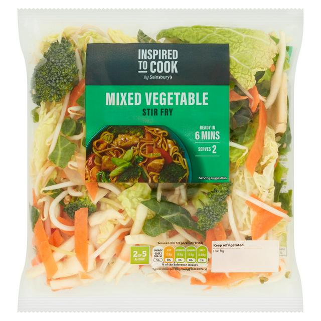 Sainsbury S Mixed Vegetable Stir Fry 325g Sainsbury S