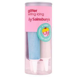 Sainsbury's Writing Icing, Glitter 4x19g