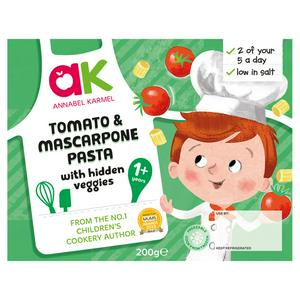 Annabel Karmel Tomato & Mascarpone Pasta With Hidden Veggies Toddler Meal 200g 12 Month+
