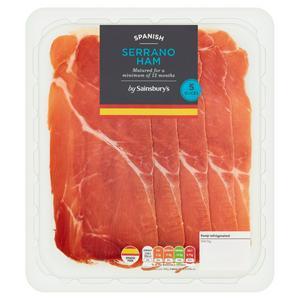 Sainsbury's Spanish Serrano Ham Slices 70g