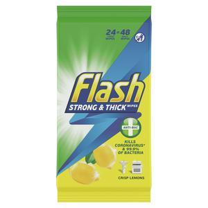 Flash Cleaning Wipes Lemon Antibacterial x48