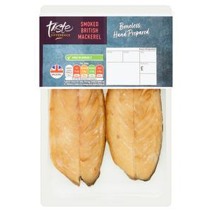 SAINSBURYS > General > Sainsbury's British Smoked Boneless Mackerel, Taste the Difference (approx. 165g)