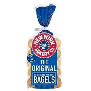 New York Bakery Co. Bagels, Plain x5