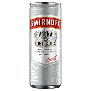 Smirnoff Vodka & Diet Cola 250ml