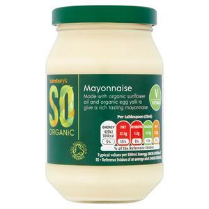Sainsbury's Mayonnaise, SO Organic 240ml