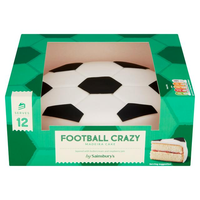 Strange Sainsburys Football Crazy Cake 750G Serves 12 Sainsburys Personalised Birthday Cards Paralily Jamesorg