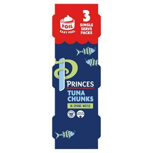 Princes Tuna Chunks in Spring Water 3x80g (3x56g*)
