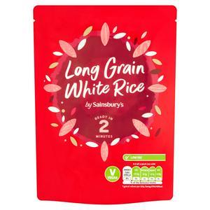 Sainsbury's Microwave Rice Long Grain White 250g