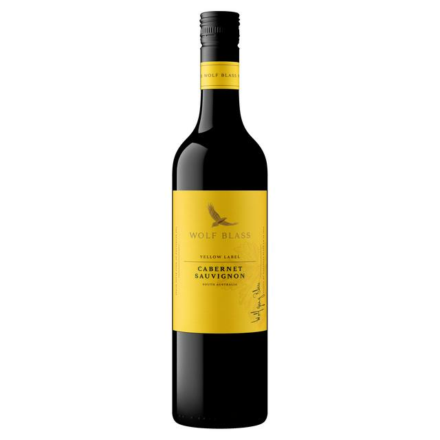 Image result for yellow label red wine