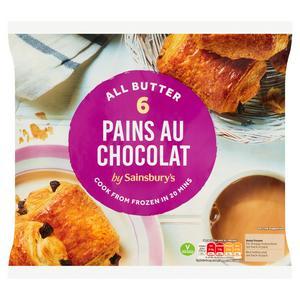 Sainsbury's Frozen Pain Au Chocolat x6 360g
