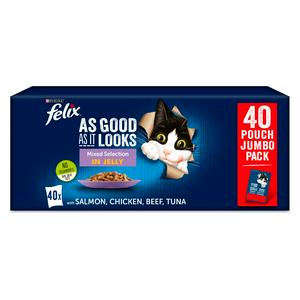Felix As Good As It Looks Cat Food Mixed 40 X 100g