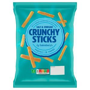 Sainsbury?s Salt & Vinegar Crunchy Sticks 140g