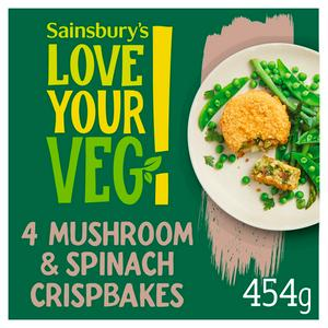Sainsbury's Love Your Veg!  Mushroom & Spinach Bake with Rice & Mature Cheddar Cheese x4 454g