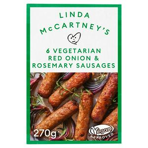 Linda McCartney Rosemary Vegetarian Sausages x6 270g