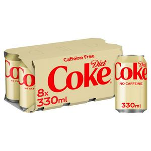 Diet Coke Caffeine Free 8x330ml