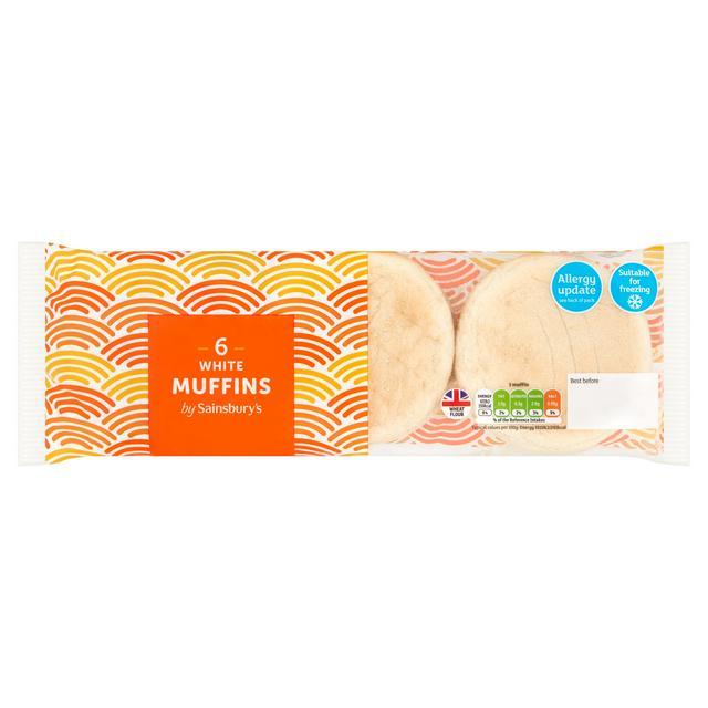 Sainsbury S White Muffins X6 Sainsbury S