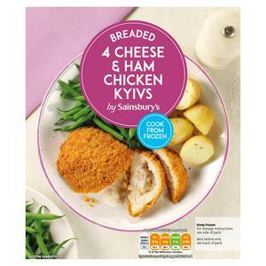 Sainsbury's Cheese & Ham Kiev 490g