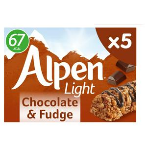 Alpen Light Chocolate & Fudge Bars 5x19g