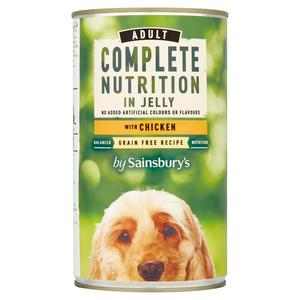 Sainsbury's Adult Dog Complete Nutrition in Jelly with Chicken 1.2kg
