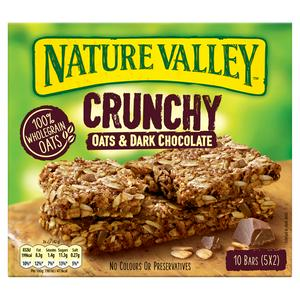 Nature Valley Crunchy Oats & Dark Chocolate Cereal Bars 5x42g