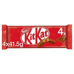 KitKat 4 Finger Milk Chocolate Bar Multipack 4x41.5g