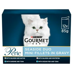 Gourmet Perle Cat Food Pouches Seaside Duo 12x85g