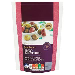 Sainsbury's Mixed Marinated Greek Olives, Taste the Difference 200g