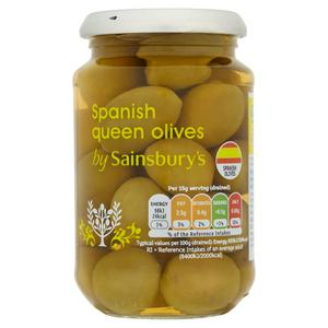 Sainsbury's Spanish Queen Olives 350g (200g*)