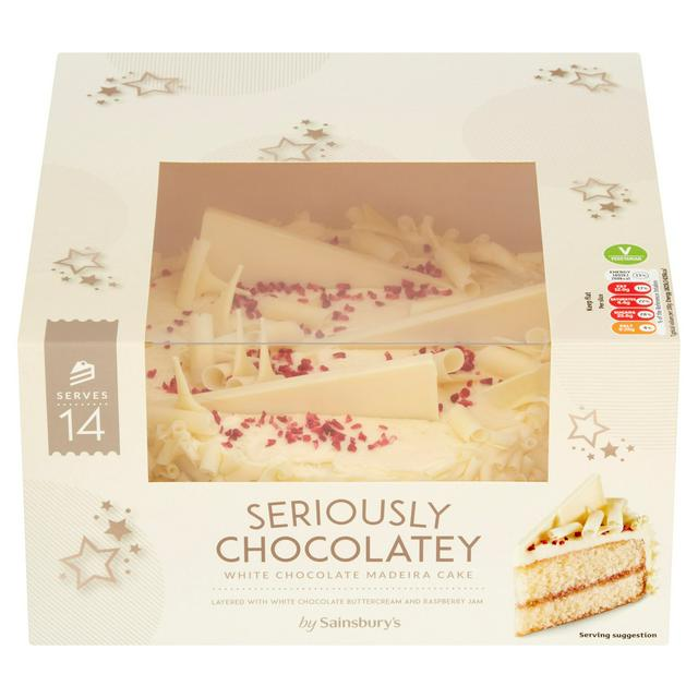 Tremendous Sainsburys Seriously White Chocolate Madeira Cake 839G Serves 12 Birthday Cards Printable Trancafe Filternl