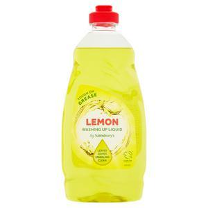 Sainsbury's Washing Up Liquid, Lemon 450ml