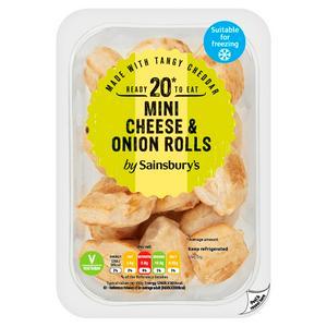 Sainsbury's Mini Cheese & Onion Mini Rolls x20 200g