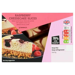 Sainsbury's Raspberry Cheesecakes 2x100g