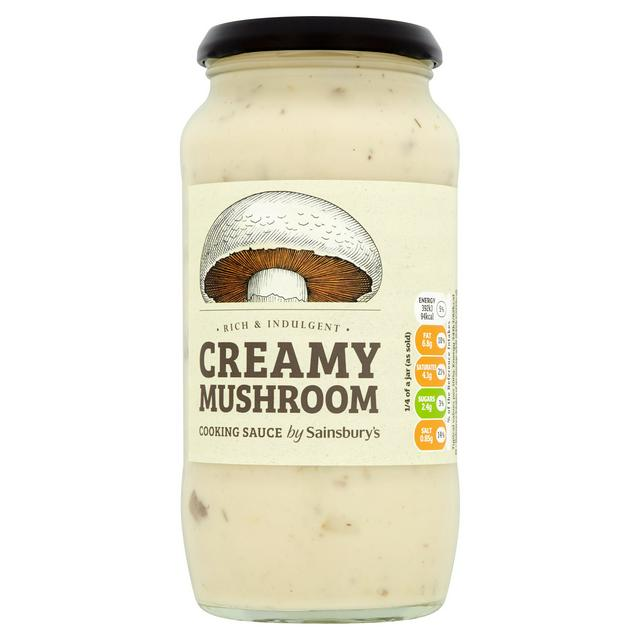 Sainsbury S Creamy Mushroom Cooking Sauce 460g Sainsbury S