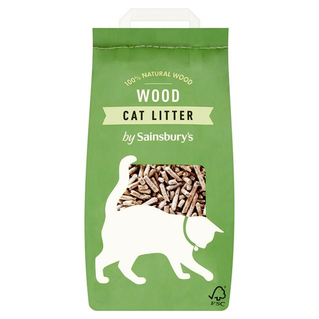 Sainsbury S Wood Cat Litter 10l Sainsbury S