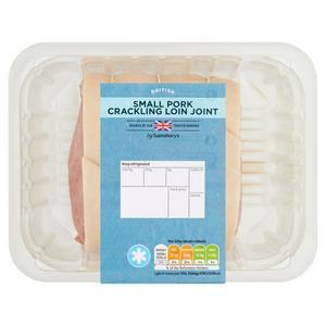 Sainsburys British Pork Small Boneless Cracking Loin Joint (Approx. 800G)