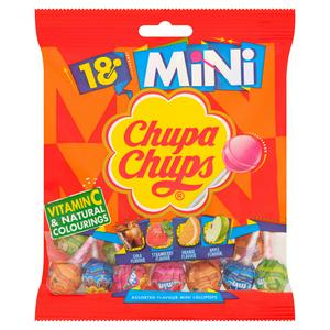 Chupa Chups The Best of Mini Lollipops Bag 18pk 120g