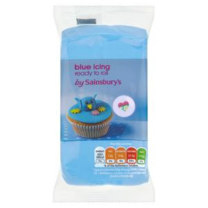 Sainsbury's Ready to Roll  Blue Icing 250g