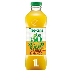 Tropicana Trop50 Orange & Mango Juice Drink 1L