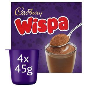 Cadbury Wispa Chocolate Mousse Dessert 4X45g