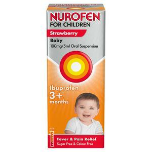 Nurofen for Children Ibuprofen Baby Strawberry Oral Suspension 3+ Months 100ml