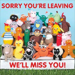 Sorry you're Leaving Goodbye Knitted Card
