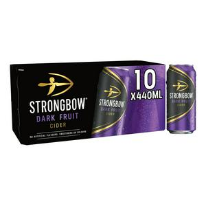 Strongbow Dark Fruit Cider Cans 10 x 440ml
