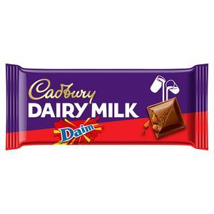 Cadbury Dairy Milk with Daim Chocolate Bar 120g