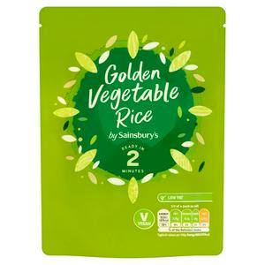Sainsbury's Microwave Rice Golden Vegetable 250g