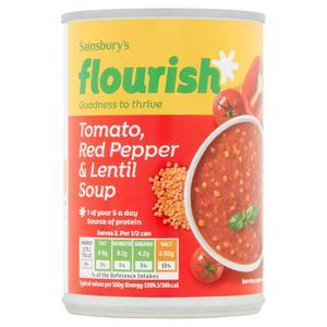 Sainsbury's Tomato Red Pepper & Lentil Soup 400g
