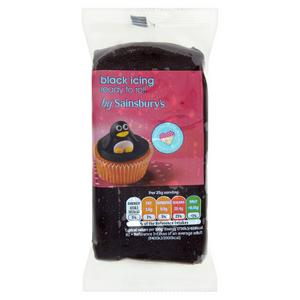 Sainsbury's Ready to Roll Black Icing 250g