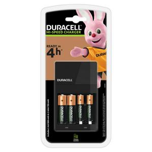 Duracell Battery Charger - Charges in 4 hours, with 2 AA and 2 AAA Batteries