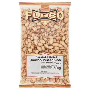 Fudco Roasted & Salted Jumbo Pistachios 500g