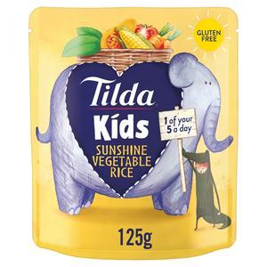 Tilda Kids Sunshine Vegetable Rice 125g 12 Month+